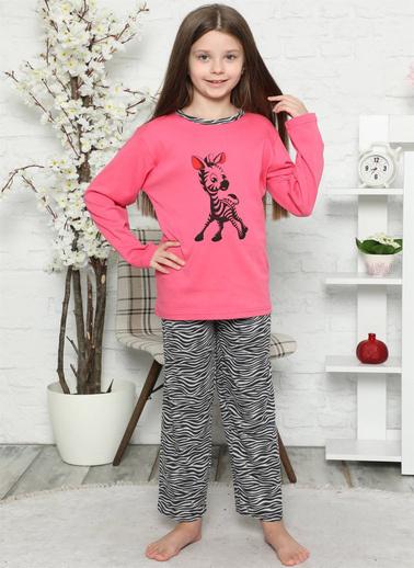 Akbeniz 7704108 Pamuklu Çocuk Pijama Takımı Pembe
